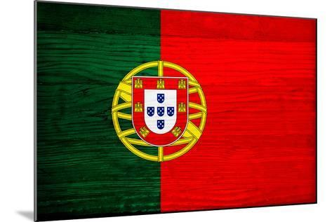 Portugal Flag Design with Wood Patterning - Flags of the World Series-Philippe Hugonnard-Mounted Art Print
