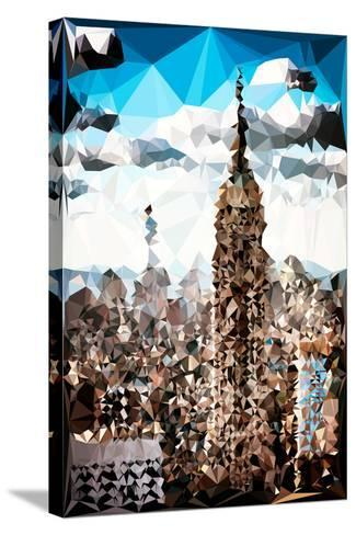 Low Poly New York Art - Empire State Building and 1 WTC-Philippe Hugonnard-Stretched Canvas Print
