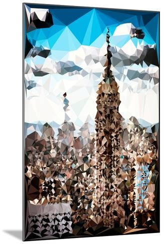 Low Poly New York Art - Empire State Building and 1 WTC-Philippe Hugonnard-Mounted Art Print
