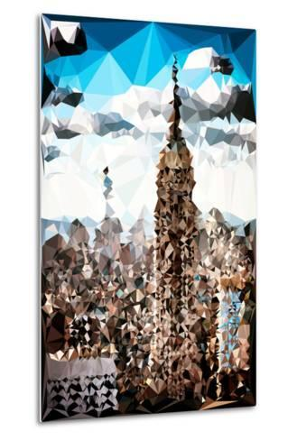 Low Poly New York Art - Empire State Building and 1 WTC-Philippe Hugonnard-Metal Print