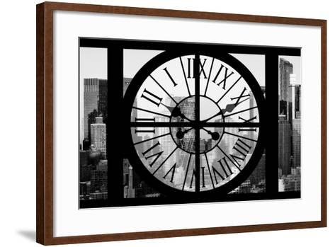 Giant Clock Window - View of Hell's Kitchen in Winter - Manhattan II-Philippe Hugonnard-Framed Art Print