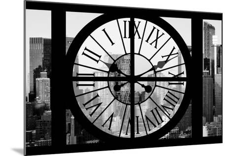Giant Clock Window - View of Hell's Kitchen in Winter - Manhattan II-Philippe Hugonnard-Mounted Photographic Print