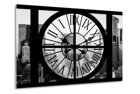 Giant Clock Window - View of Hell's Kitchen in Winter - Manhattan II-Philippe Hugonnard-Metal Print