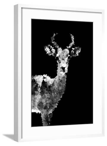 Low Poly Safari Art - Impala Antelope - Black Edition II-Philippe Hugonnard-Framed Art Print