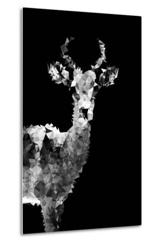 Low Poly Safari Art - Impala Antelope - Black Edition II-Philippe Hugonnard-Metal Print
