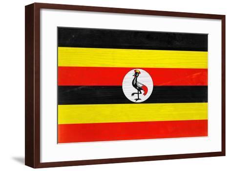 Uganda Flag Design with Wood Patterning - Flags of the World Series-Philippe Hugonnard-Framed Art Print