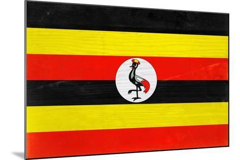 Uganda Flag Design with Wood Patterning - Flags of the World Series-Philippe Hugonnard-Mounted Art Print