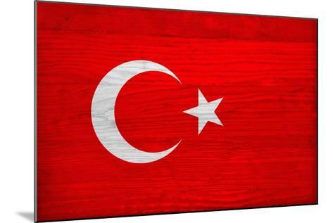 Turkey Flag Design with Wood Patterning - Flags of the World Series-Philippe Hugonnard-Mounted Art Print