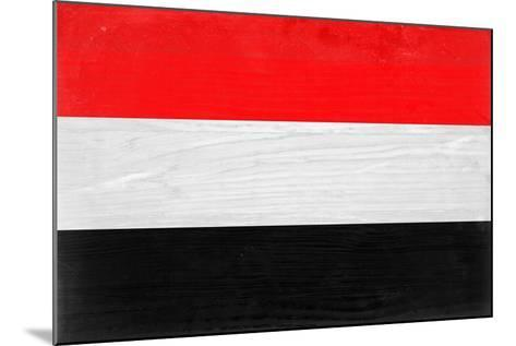 Yemen Flag Design with Wood Patterning - Flags of the World Series-Philippe Hugonnard-Mounted Art Print