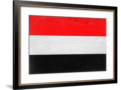 Yemen Flag Design with Wood Patterning - Flags of the World Series-Philippe Hugonnard-Framed Art Print