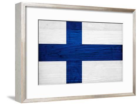 Finland Flag Design with Wood Patterning - Flags of the World Series ...