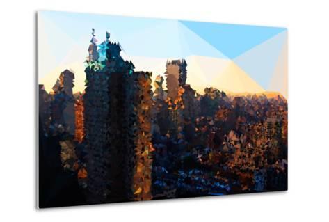 Low Poly New York Art - Manhattan Sunrise-Philippe Hugonnard-Metal Print