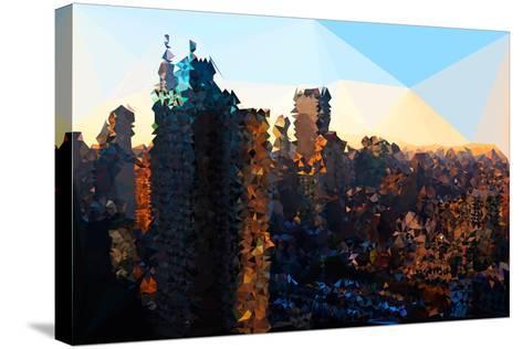 Low Poly New York Art - Manhattan Sunrise-Philippe Hugonnard-Stretched Canvas Print