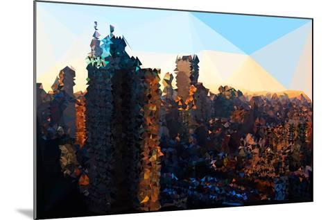 Low Poly New York Art - Manhattan Sunrise-Philippe Hugonnard-Mounted Art Print