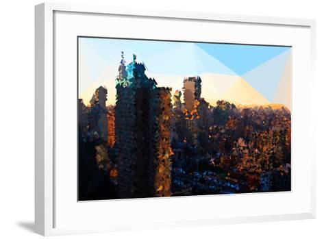 Low Poly New York Art - Manhattan Sunrise-Philippe Hugonnard-Framed Art Print