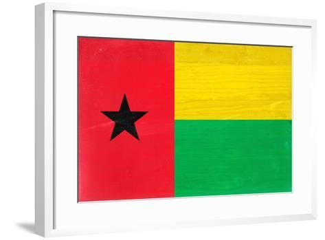 Guinea-Bissau Flag Design with Wood Patterning - Flags of the World Series-Philippe Hugonnard-Framed Art Print
