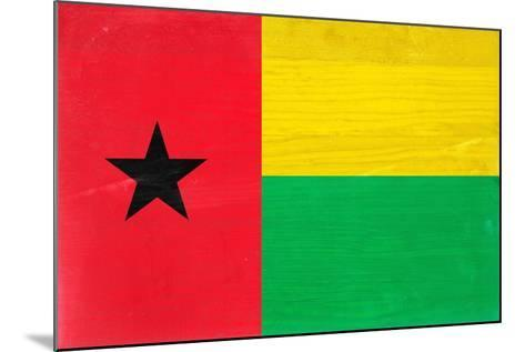 Guinea-Bissau Flag Design with Wood Patterning - Flags of the World Series-Philippe Hugonnard-Mounted Art Print
