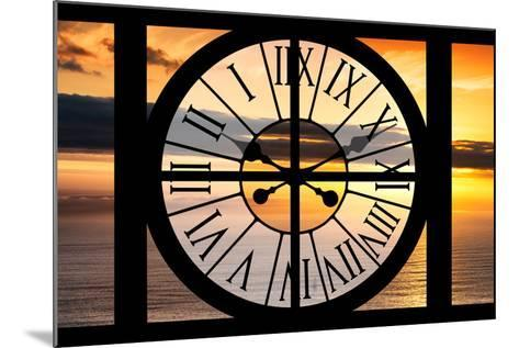 Giant Clock Window - View of a Sunset-Philippe Hugonnard-Mounted Photographic Print