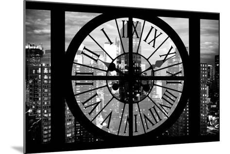 Giant Clock Window - View of Manhattan at Dusk II-Philippe Hugonnard-Mounted Photographic Print