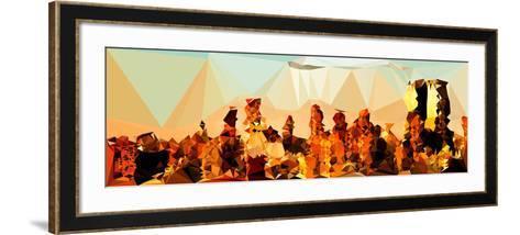 Low Poly New York Art - Midtown Manhattan Sunset-Philippe Hugonnard-Framed Art Print