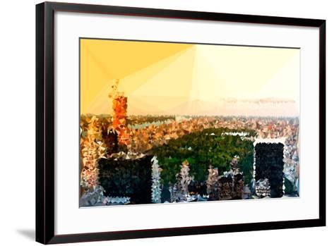 Low Poly New York Art - Central Park at Sunset-Philippe Hugonnard-Framed Art Print