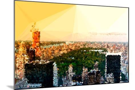 Low Poly New York Art - Central Park at Sunset-Philippe Hugonnard-Mounted Art Print