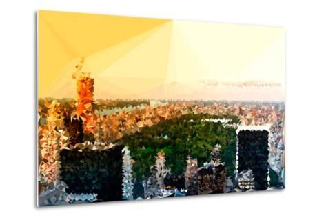 Low Poly New York Art - Central Park at Sunset-Philippe Hugonnard-Metal Print