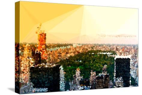 Low Poly New York Art - Central Park at Sunset-Philippe Hugonnard-Stretched Canvas Print