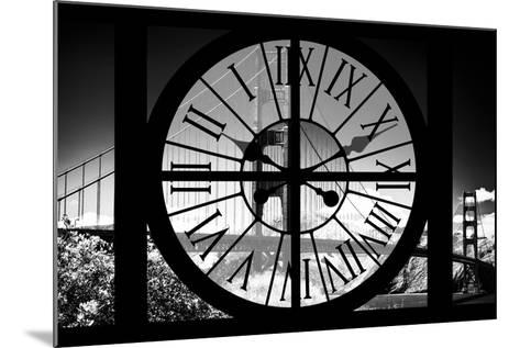 Giant Clock Window - View of the Golden Gate Bridge - San Francisco V-Philippe Hugonnard-Mounted Photographic Print