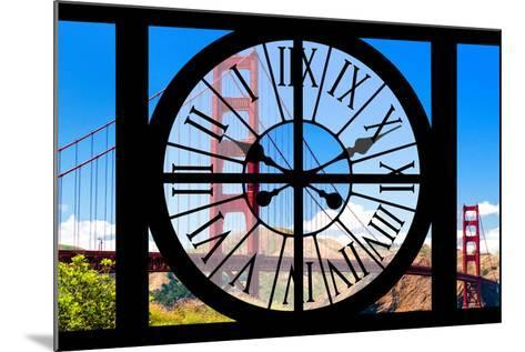 Giant Clock Window - View of the Golden Gate Bridge - San Francisco VI-Philippe Hugonnard-Mounted Photographic Print