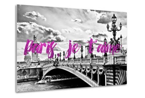 Paris Fashion Series - Paris, je t'aime - Paris Bridge II-Philippe Hugonnard-Metal Print