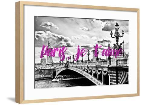 Paris Fashion Series - Paris, je t'aime - Paris Bridge II-Philippe Hugonnard-Framed Art Print