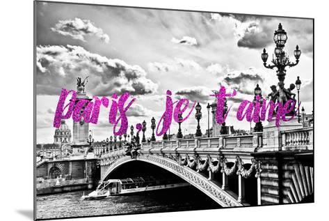 Paris Fashion Series - Paris, je t'aime - Paris Bridge II-Philippe Hugonnard-Mounted Photographic Print