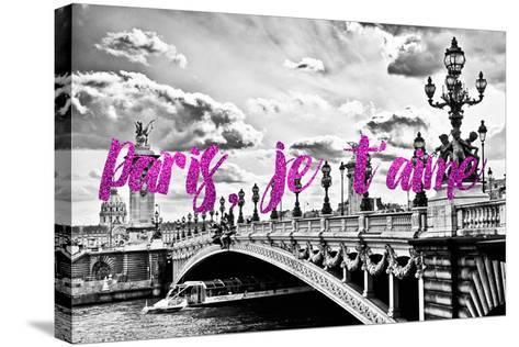 Paris Fashion Series - Paris, je t'aime - Paris Bridge II-Philippe Hugonnard-Stretched Canvas Print