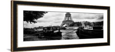 Paris sur Seine Collection - The Eiffel Tower and the Quays II-Philippe Hugonnard-Framed Art Print