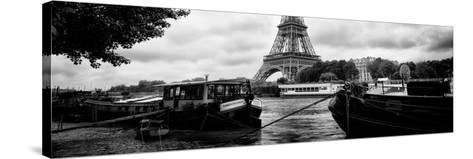 Paris sur Seine Collection - The Eiffel Tower and the Quays II-Philippe Hugonnard-Stretched Canvas Print