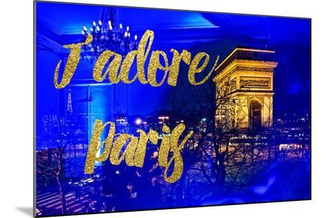 Paris Fashion Series - J'adore Paris - Arc de Triomphe by Night-Philippe Hugonnard-Mounted Photographic Print