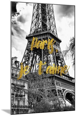 Paris Fashion Series - Paris, je t'aime - The Eiffel Tower-Philippe Hugonnard-Mounted Photographic Print