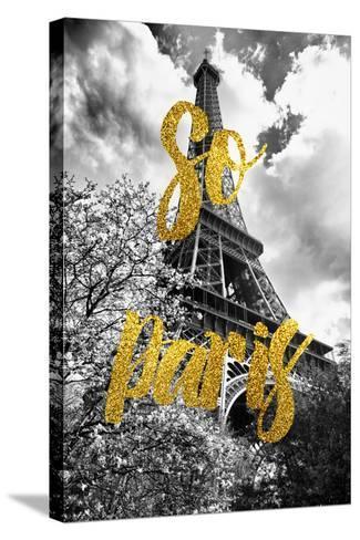 Paris Fashion Series - So Paris - Eiffel Tower-Philippe Hugonnard-Stretched Canvas Print