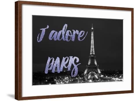 Paris Fashion Series - J'adore Paris - Eiffel Tower at Night VII-Philippe Hugonnard-Framed Art Print