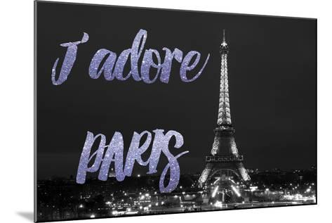 Paris Fashion Series - J'adore Paris - Eiffel Tower at Night VII-Philippe Hugonnard-Mounted Photographic Print