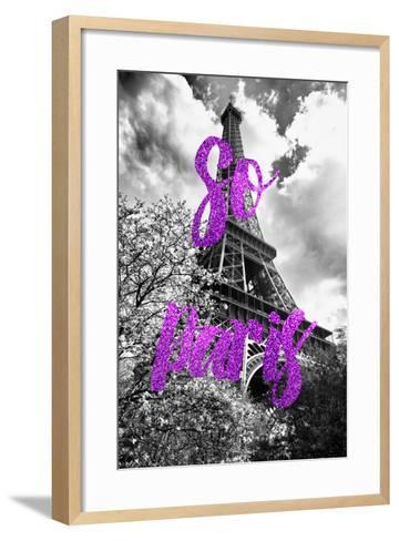 Paris Fashion Series - So Paris - Eiffel Tower III-Philippe Hugonnard-Framed Art Print