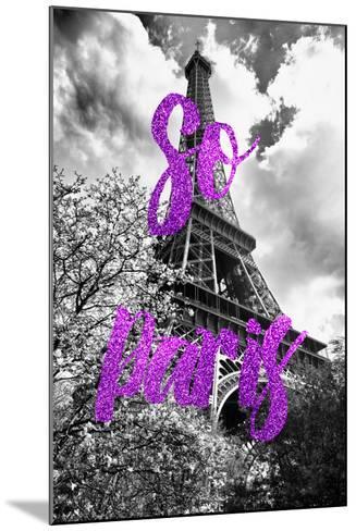 Paris Fashion Series - So Paris - Eiffel Tower III-Philippe Hugonnard-Mounted Photographic Print