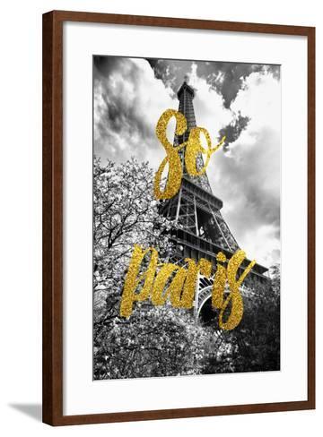 Paris Fashion Series - So Paris - Eiffel Tower-Philippe Hugonnard-Framed Art Print