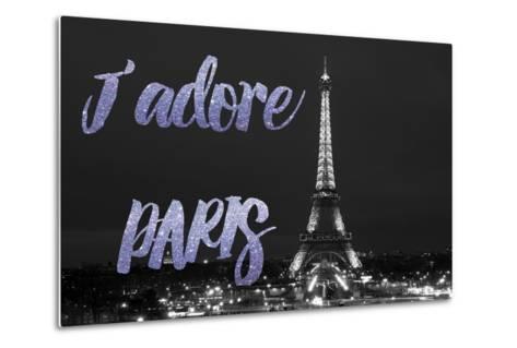 Paris Fashion Series - J'adore Paris - Eiffel Tower at Night VII-Philippe Hugonnard-Metal Print