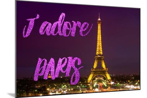 Paris Fashion Series - J'adore Paris - Eiffel Tower at Night IV-Philippe Hugonnard-Mounted Photographic Print