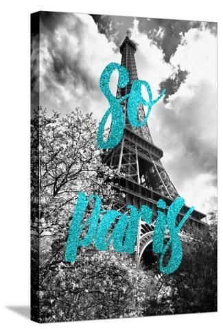 Paris Fashion Series - So Paris - Eiffel Tower II-Philippe Hugonnard-Stretched Canvas Print