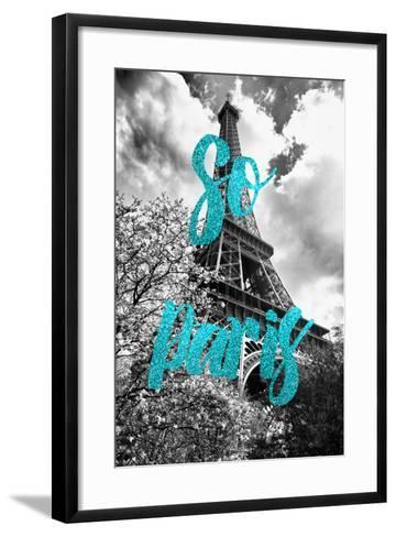 Paris Fashion Series - So Paris - Eiffel Tower II-Philippe Hugonnard-Framed Art Print