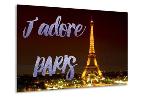 Paris Fashion Series - J'adore Paris - Eiffel Tower at Night IX-Philippe Hugonnard-Metal Print
