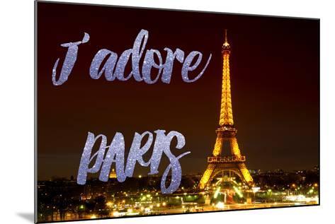 Paris Fashion Series - J'adore Paris - Eiffel Tower at Night IX-Philippe Hugonnard-Mounted Photographic Print
